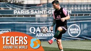 PSG移籍のリオネル・メッシが初日の練習でテックボールを披露!?
